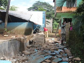 Deja tormenta severos daños a familias de Chiapas