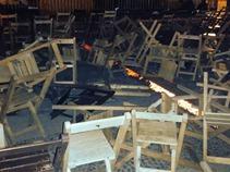 Maestros causan destrozos en el Festival Cervantino en San Cristóbal de las Casas