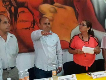 Toma protesta alcalde suplente de Cocula, Guerrero
