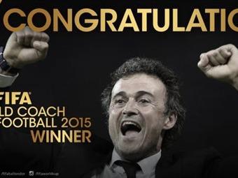 Luis Enrique; mejor entrenador del mundo en el 2015