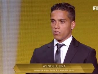 Gol de Wendell Lira gana el premio Puskas al mejor gol del 2015