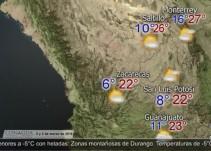 Pronóstico del tiempo del 02 y 03 de marzo