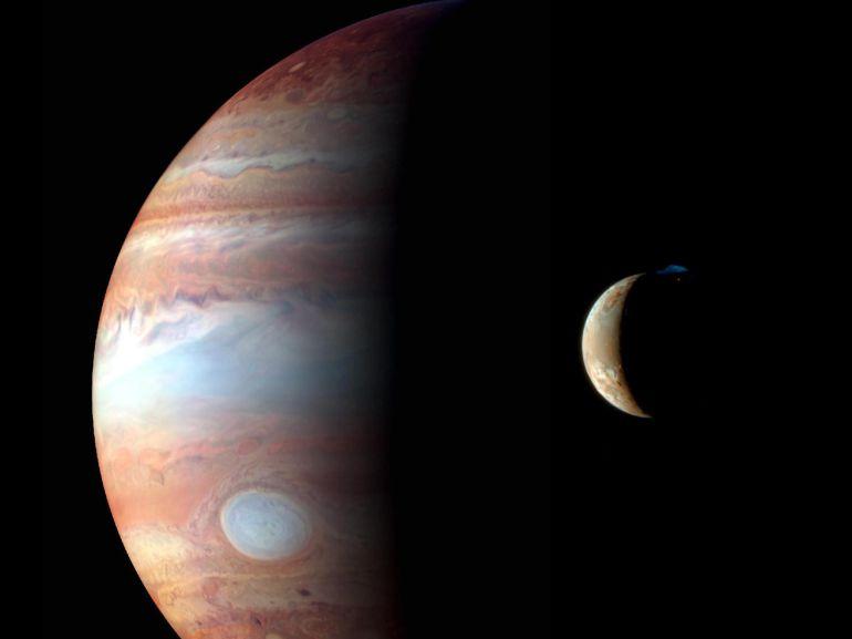 Se verán las 4 lunas de Júpiter