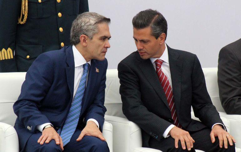 Peña Nieto olvidó sus compromisos con la CDMX, acusa Mancera