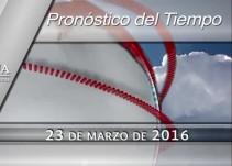 Pronóstico del tiempo del 23 de marzo