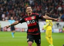 Chicharito colaboró con gol y asistencia en goleada del Bayer Leverkusen