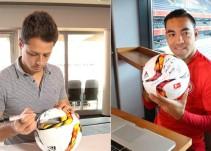 Chicharito Hernández y Marco Fabián se entrevistaron vía Skype