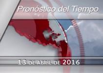 Pronóstico del Tiempo del 13 de abril