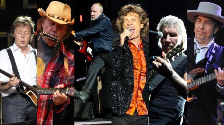 ¡Confirmado! The Rolling Stones, Paul McCartney y Bob Dylan tocarán juntos