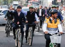 """Senadores """"le dan al pedal"""" para celebrar Día Mundial de la Bicicleta"""