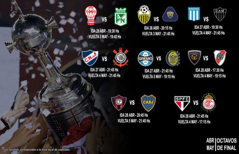 Pumas y Toluca ya tienen rivales para octavos de final de Copa Libertadores