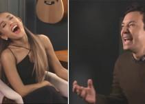 Ariana Grande y Jimmy Fallon conversan haciendo 'lip sync'