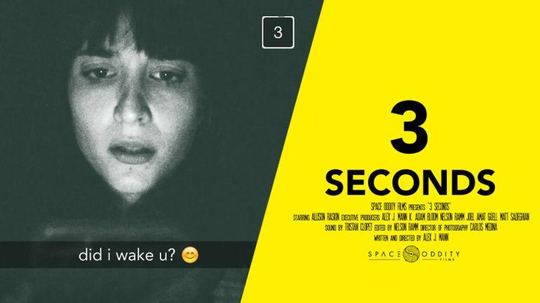 """""""3 Seconds"""", el cortometraje que hará que temas usar Snapchat de noche"""