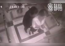 Mujer golpea a hombre que la acosó en un elevador