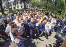 Enrique Peña Nieto felicita a las Águilas en Los Pinos por su título de Concacaf
