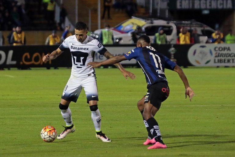 Pumas cae en Ecuador en la ida de cuartos de final de Copa Libertadores