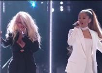 """Ariana Grande y Christina Aguilera hacen el dueto en la final de """"The Voice"""""""
