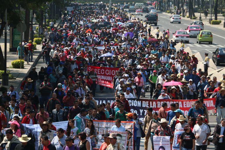 Marcha el viernes al AICM si no hay dialogo con los tres poderes: #CNTE