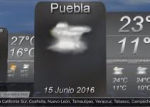 Pronóstico del Tiempo del 15 de junio