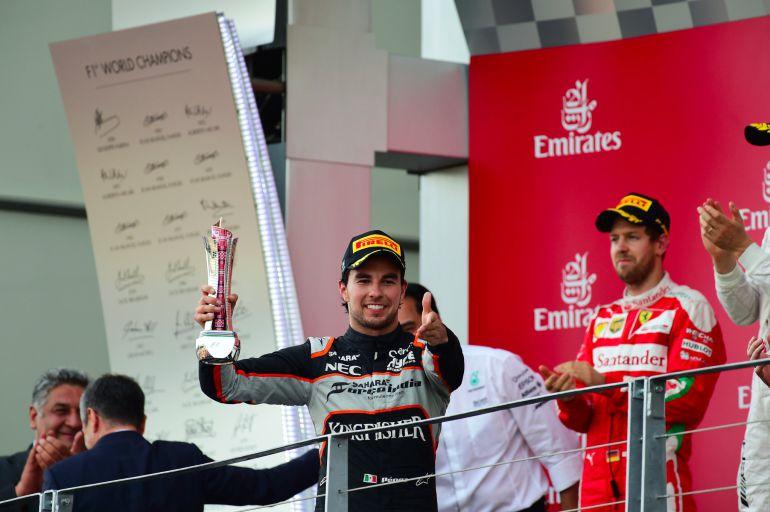 Sergio Pérez logra su segundo podio de la temporada e iguala a Pedro Rodríguez