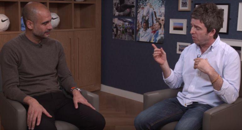 La amena charla entre Pep Guardiola y Noel Gallagher