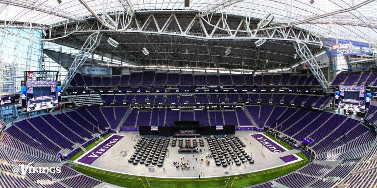 Está listo el nuevo estadio de los Vikingos de Minnesota de la NFL
