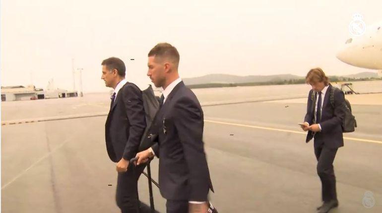 La llegada del Real Madrid a Noruega, sede de la Supercopa de Europa
