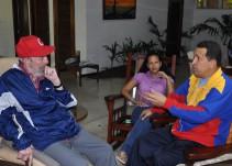 Encuentro entre Evo Morales y Fidel Castro