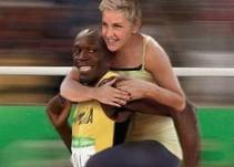 Acusan de racista a Ellen Degeneres por foto con Usain Bolt