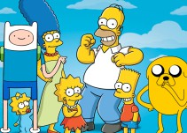 """Esto es lo que pasa cuando """"Hora de Aventura"""" y """"Los Simpson"""" se unen"""