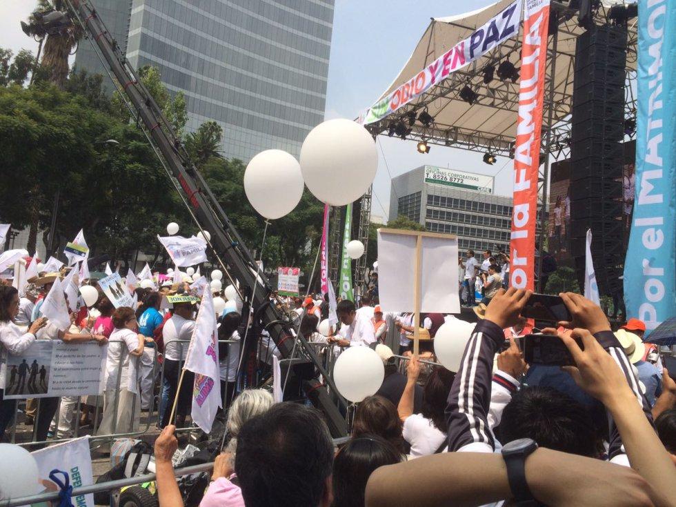 Las marchas a favor y en contra del matrimonio igualitario, en fotos