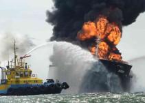 Ilesa la tripulación tras explosión en Buque de Veracruz: Pemex