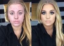 La magia del maquillaje...