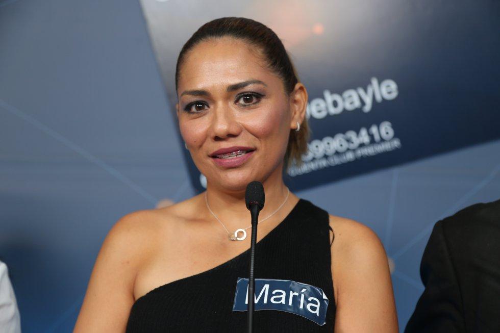 María voló desde Cancún para participar con Martha Debayle y Club Premier