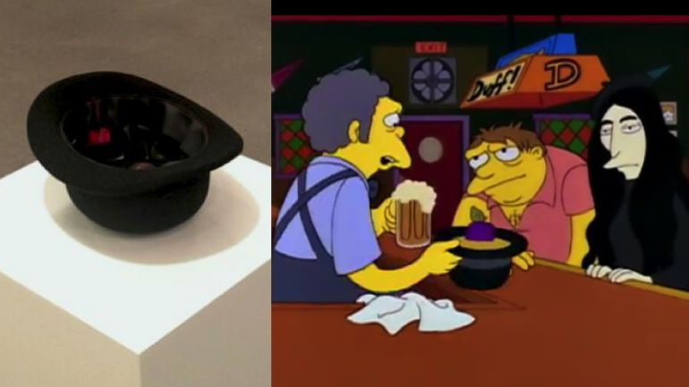 Yoko Ono recrea una escena de Los Simpson