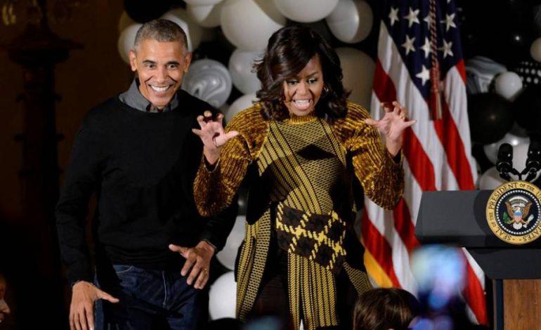 """Los Obama celebran Halloween al ritmo de """"Thriller"""""""