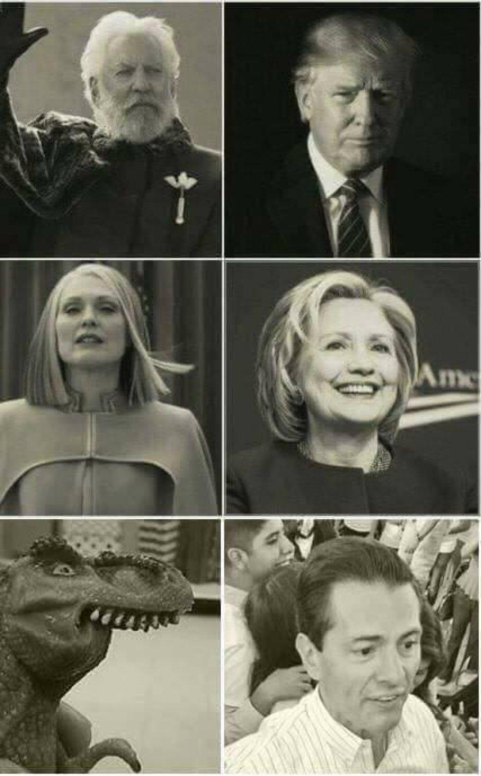 Donald Trump, Hillary Clinton y Enrique Peña Nieto