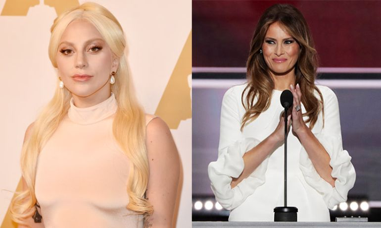 Gaga critica a Melania en redes sociales