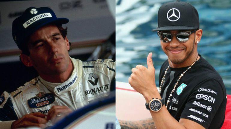 Ayrton Senna es el modelo a seguir del británico Lewis Hamilton