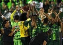 El último festejo de los jugadores del Chapecoense