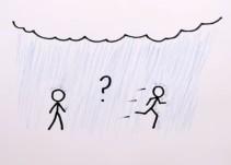 ¿Es verdad que si corres bajo la lluvia te mojas menos?