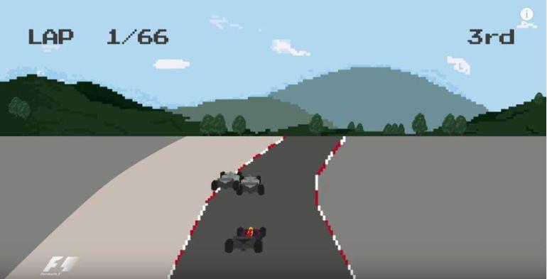 La Temporada 2016 de la Fórmula 1 al estilo de un videojuego de los 80