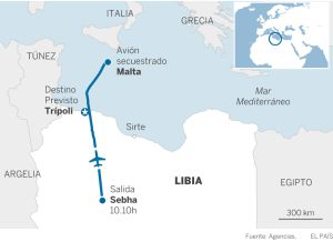 Un avión libio, secuestrado y desviado a Malta