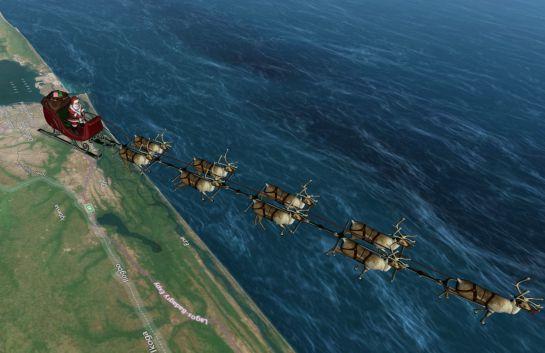 Sigue el recorrido de Santa Claus por todo el mundo