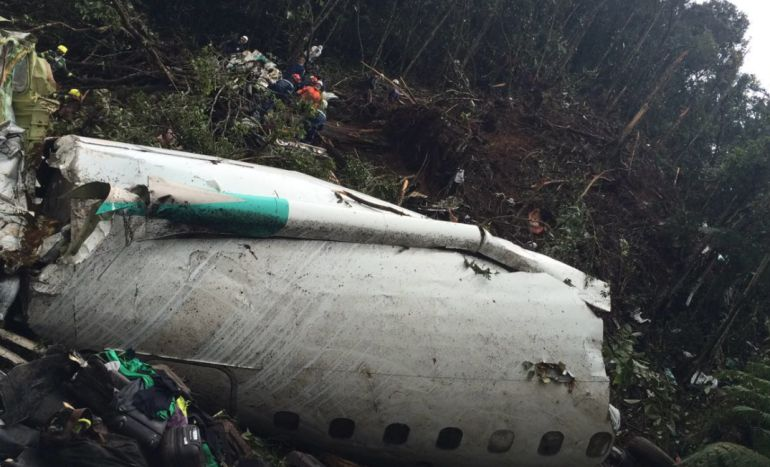 Revelan que el avión del Chapecoense iba con exceso de peso