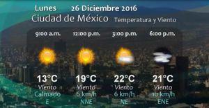 Pronostico del Tiempo del 26 de diciembre