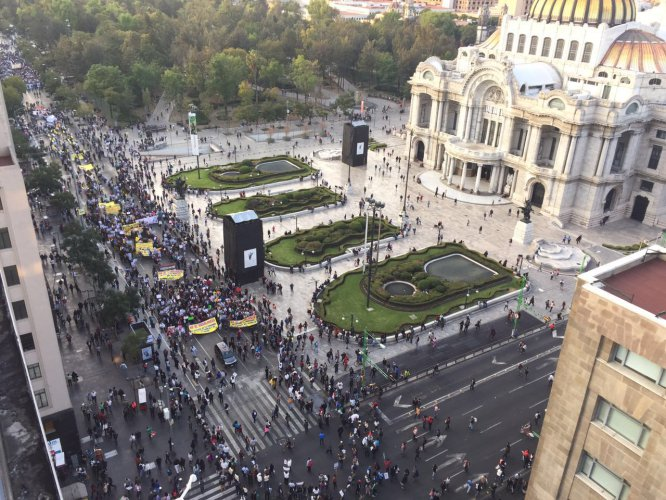 Las marchas en la CDMX en contra del gasolinazo en imágenes