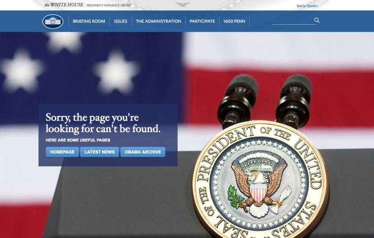 La Casa Blanca de Donald Trump elimina el español de su página 'web'