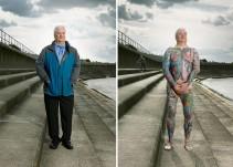 Fotógrafo revela los tatuajes que algunas personas esconden bajo su ropa