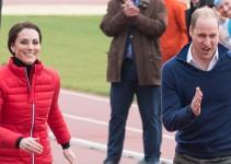 Los Duques de Cambridge y el príncipe Harry corren al estilo de Usain Bolt